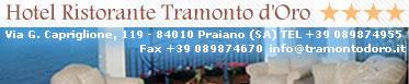 Praiano Hotels - Restaurant Tramonto D'Oro Praiano Amalfi Coast Italy