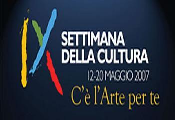 """""""IX Settimana Nazionale della Cultura"""""""